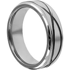 men promise rings krypton carved infinity symbol tungsten promise ring for men