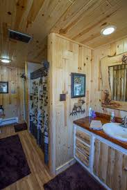your bathroom customized with rustic trim ideas