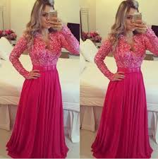 long sleeve beach prom dresses 2017 robe de soiree pearls dress