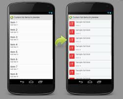 layout template listview how to preview android listview with custom row and header layout