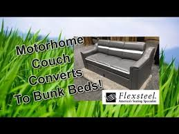 Sofa That Turns Into A Bunk Bed Newmar Motorhome Couch Converts To A Bunk Bed Youtube