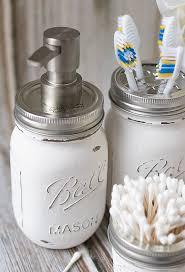 glamorous mason jar bathroom set storage accessories crafts love