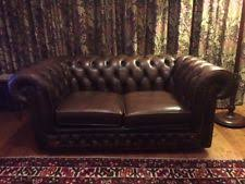 Chesterfield Sofa Used Leather Chesterfield Sofa Ebay