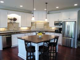 home design dining kitchen island with black and white theme t