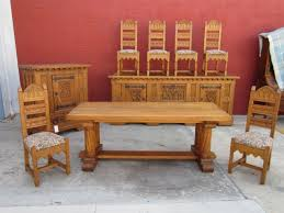 gothic dining table and chairs 6087