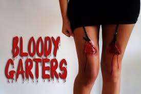 bloody garter halloween makeup effect youtube