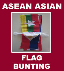 International Bunting Flags Asean Asian Flag Bunting South East Asian Nations Polyester String