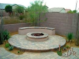 Firepit Pad Pit Circle Pit And Bench Built Onto A Circular Paver