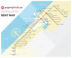 Dc Metro Red Line Map by The Dubai Metro Rent Map The Cost Of Renting A 1br By Metro