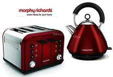 Toaster And Kettle Set Red Morphy Richards Stainless Steel Tea Kettle U0026 Toaster Sets Ebay