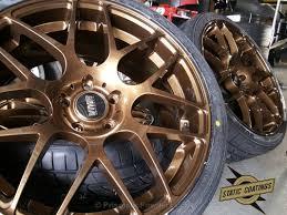 porsche silver powder coat vmr wheels bronze powder coated clear top coat bronze chrome