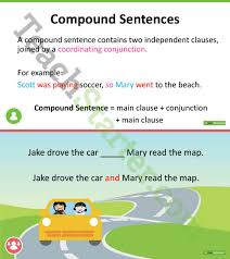 simple compound and complex sentences powerpoint teaching