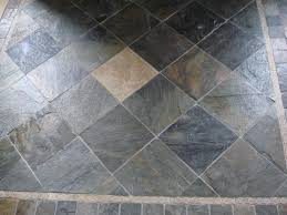 slate tile floor with etched stone deco new jersey custom tile