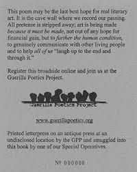 the guerilla poetics project