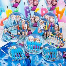 party supplies cheap frozen decoration supplies elsa olaf theme paper plates party