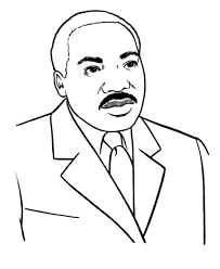 martin luther king clipart martin luther king coloring page