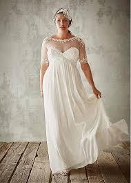 flowing wedding dresses buy discount flowing tulle chiffon bateau neckline a line plus