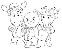 free printable backyardigans coloring pages for kids throughout
