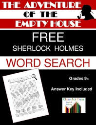 free house search the adventure of the empty house sherlock holmes word search free