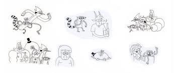 paper work and sketches on rigbyandeileenfans deviantart