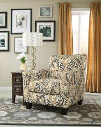 Ashley Furniture Armchair Gorgeous Paisley Print Accent Chair In Zinnia Desert From