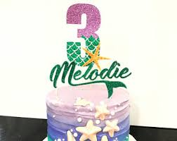 Cake Decorating Supplies California Mermaid Cake Topper Etsy