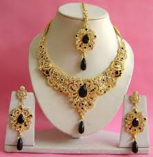 jewelry necklace earring sets images Bridal jewelry necklace earrings maang tikka set at rs 850 piece jpg