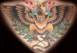 wonderful color ink griffin with tree blanches tattoo tattoos photos