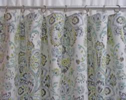 Damask Kitchen Curtains by Gray Damask Curtains Etsy