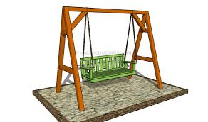 Plans For Building A Wood Bench by How To Build An A Frame Swing Howtospecialist How To Build