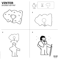 ikea releases instructions on how to make jon snow rug cape time