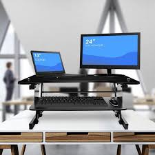 office desk with adjustable keyboard tray sorbus sit to stand monitor riser desk height adjustable standing