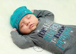 newborn baby boy gown for this boy i prayed