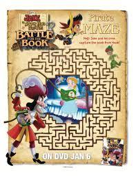 disney jake neverland pirates free printable maze