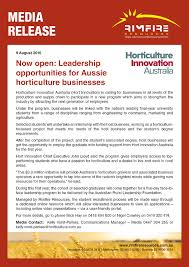 Now Open For Supply Chain Now Open Leadership Opportunities For Aussie Horticulture Businesses