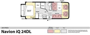 itasca rv floor plans fretz rv itasca navion floorplans navion 24k navion 24j