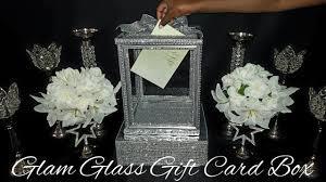 wedding gift card box diy dollar tree glam glass wedding gift card box