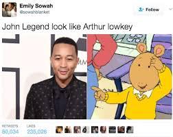 John Legend Meme - so the basically official arthur twitter just called out john legend