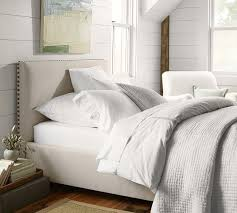 Pottery Barn Headboard Low Headboards Raleigh Upholstered Square Low Bed Headboard