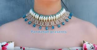 tutorial pearl necklace images Video tutorial diy bridal choker pearl necklace pandahall beads jpg