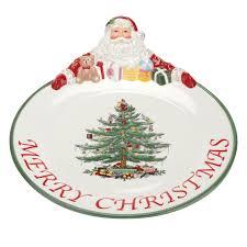 spode christmas tree santa platter spode usa