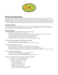 Phlebotomist Job Description Resume by Barista Duties Resume Best Free Resume Collection