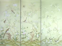 Wallpaper With Birds Aliexpress Com Buy Hand Painted Silk Wallpaper Painting Tree