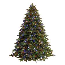 pre lit christmas trees artificial christmas trees the home depot