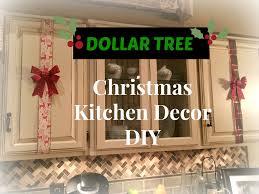 Above Kitchen Cabinet Decor Ideas Dollar Tree Christmas Kitchen Cabinets Decor Diy Plaid Week Day 3