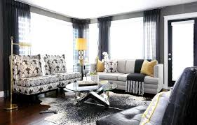 different window treatments luxury family room ideas with elegant printed armchairs and dark