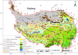 Tibetan Plateau Map Autumn Ndvi Contributes More And More To Vegetation Improvement In