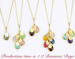 birthstones necklace for charming grandmother birthstone necklace family tree etsy gold