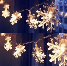 snowflake shape led lights 10 meters 32