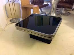 furniture knockout tier modern swivel coffee table black monda